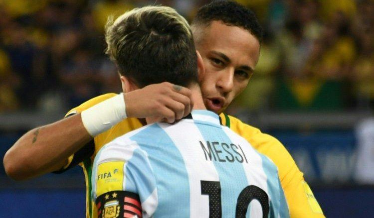 Lionel messi. neymar jr., argentina, brazil, fotball